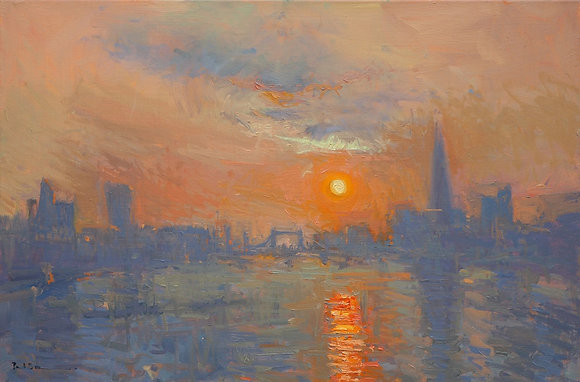 Sunrise from Blackfriars Bridge