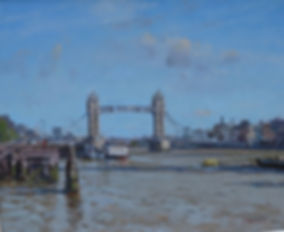 """Tower Bridge and the Thames Oil, 20""""x24"""" £2,850"""