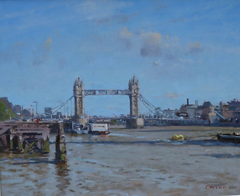 "Tower Bridge and the Thames Oil, 20""x24"" £2,850"