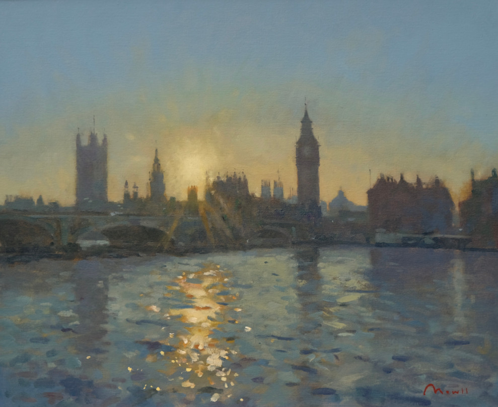 """Houses of Parliament, sunset Oil, 20""""x24"""" £2,850"""