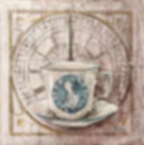 Tea time - 2019 20x20 -tecnica mista su