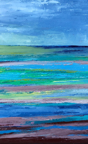 Low Tide at Seasalter, 41 x 41 cm, Oil on Canvas, £795