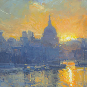 August sunrise, St. Paul's & The City