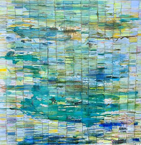 Butrint: Codex, oil on canvas,1m x 1m, 2018, £895