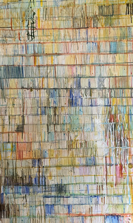 Lockdown 2, oil and other mediums on canvas, 1m x 1m, 2020, £895