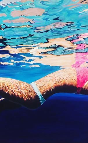 In the Deep, 90 x 60 cm, Acrylic on Canvas, £500