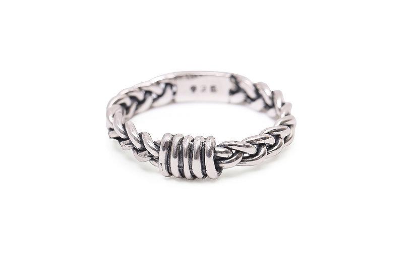 Bague Tressée / Braided Silver Ring