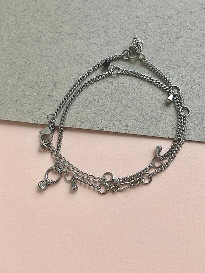 Collier/Bracelet Breloques multiples