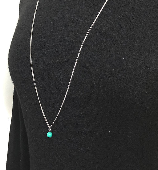 Collier long pierre - TURQUOISE