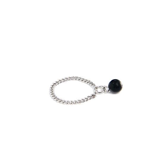 Bague Chaîne avec pierre naturelle/Chain Ring & stone