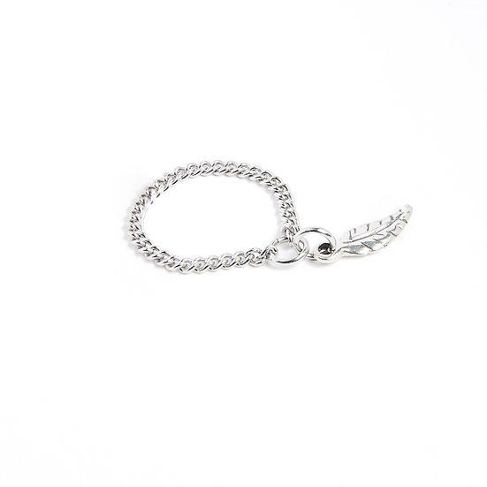 Bague plume en argent / Silverfeather ring