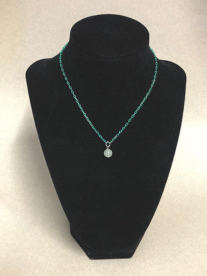Collier chaine verte - Jade de chine