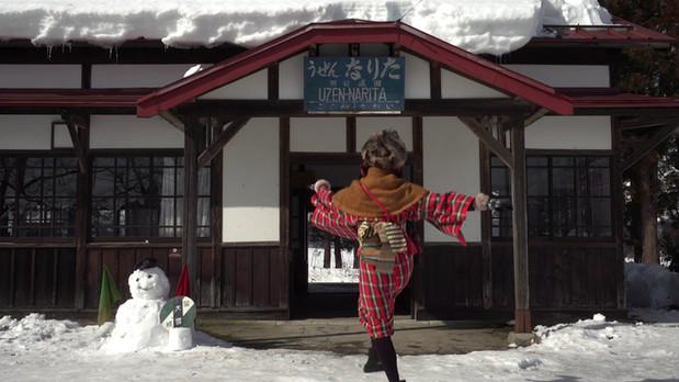フラワー長井線羽前成田駅