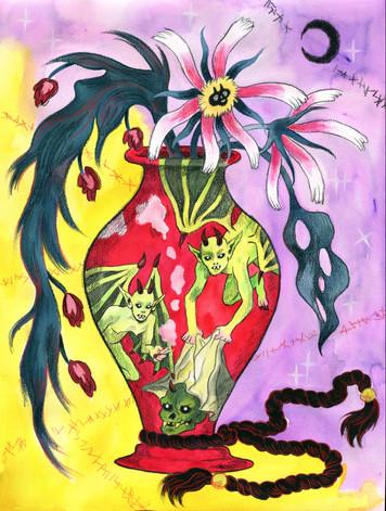 Red Vase Bouquet