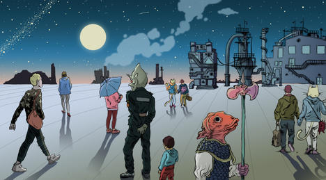 Fish Heads in Space