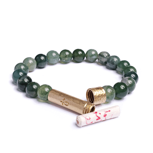 Polished Grass AgateBracelet