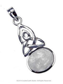 Celtic Knot Moonstone Pendant