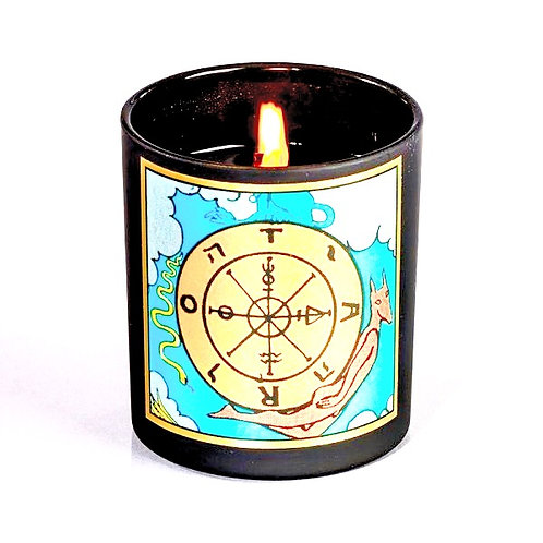 wheel of fortune tarot candle