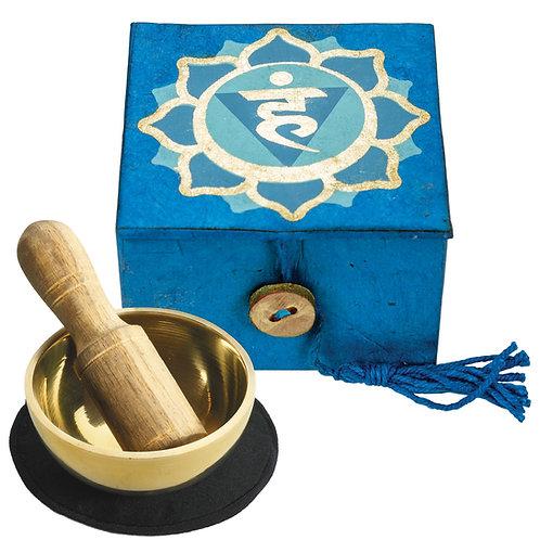 Mini Singing Bowl Box: Throat Chakra