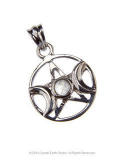 Pentacle Moonstone Pendant