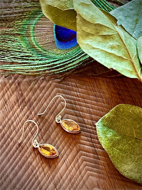 citrine healing earrings
