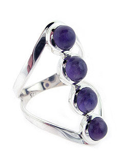 Amethyst Sterling Ring