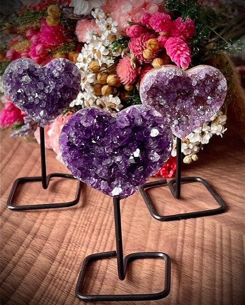 amethyst calming hearts