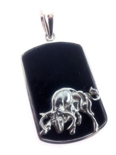 Black Onyx Courage Tag
