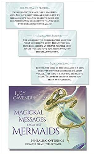 Beautiful magical mermaid oracle cards