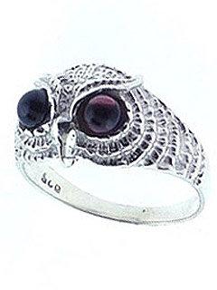 Owl Garnet Ring