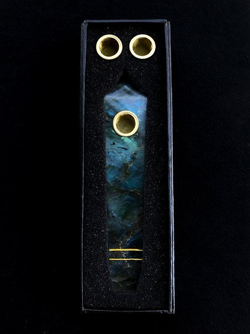 Labradorite Galaxy Pipe