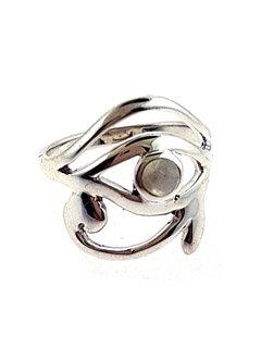 Moonstone Eye of Horus Ring