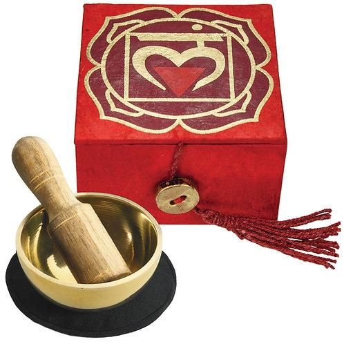 Mini Singing Bowl Box: Root Chakra