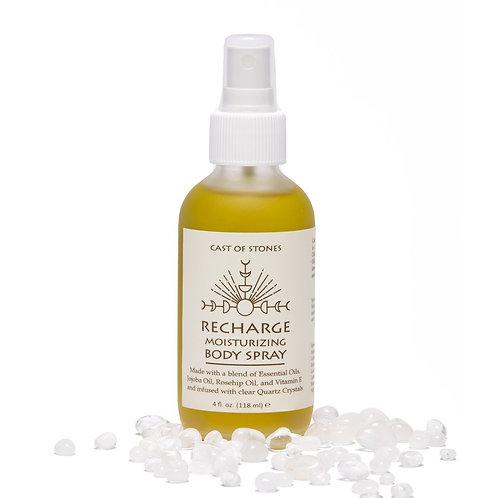 RECHARGE MOISTURIZING SPRAY INFUSED W/ CLEAR QUARTZ CRYSTALS
