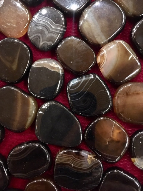 Indian Agate Flat Back Tumbled