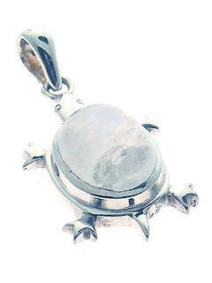 Turtle Island Moonstone Pendant