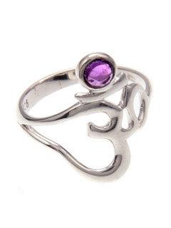 Om Amethyst Ring