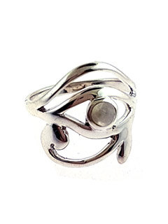 Eye of Horus Moonstone Ring
