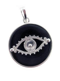 The Eye Black Onyx Pendant