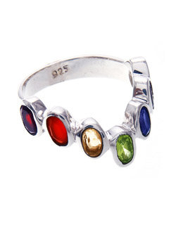Sterling Silver Chakra Ring