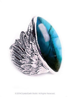 Labradorite Winged Sterling Silver Ring
