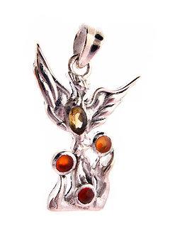 Phoenix Carnelian Pendant