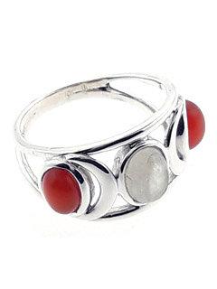 Moonstone & Sunstone Ring