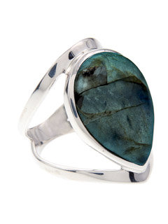Labradorite Open Sterling Silver Ring