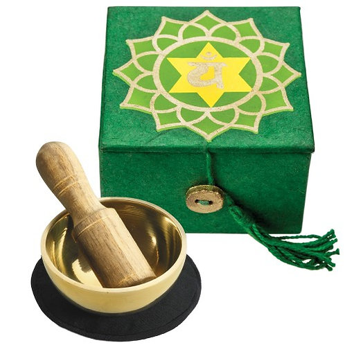 Mini Singing Bowl Box: Heart Chakra