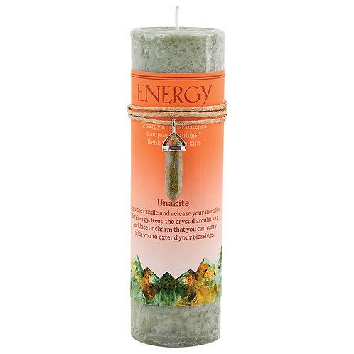Energy Unakite Crystal Energy Pendant Candle