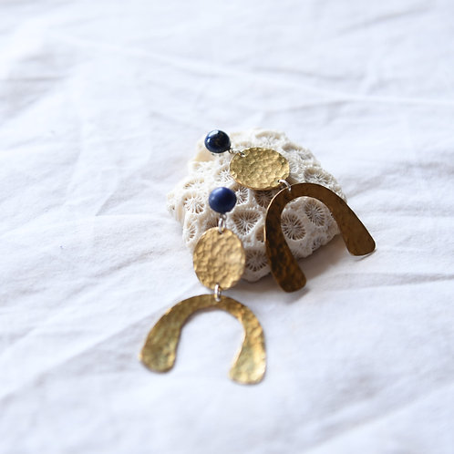 Brass and Lapis earrings