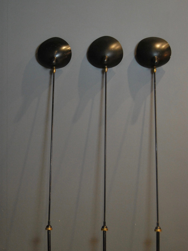Set of 3 Wall Lamps - Serge Mouille