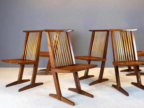 George Nakashima - Six Conoid Chairs