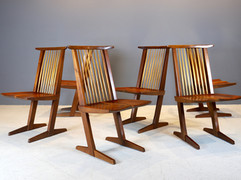 SOLD George Nakashima - Six Conoid Chairs